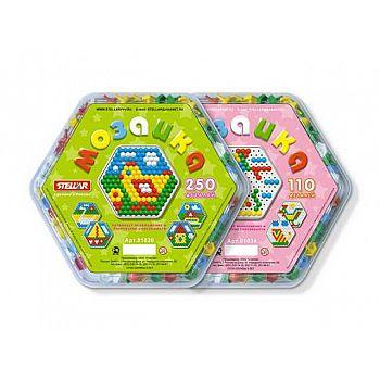 Мозаика (диаметр 13мм/250шт) , шестигранная коробка