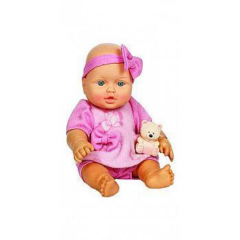 Кукла Малышка с мишуткой, 32,5 см