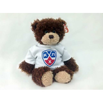 Мягкая игрушка TY Медвежонок-хоккеист в футболке КХЛ, 25см