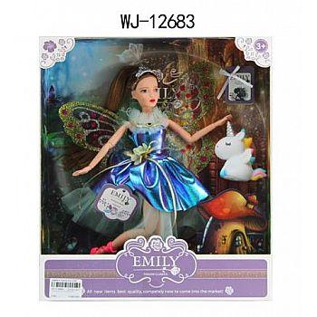 Кукла ABtoys Emily Сиреневая серия Фея с единорогом, 30см