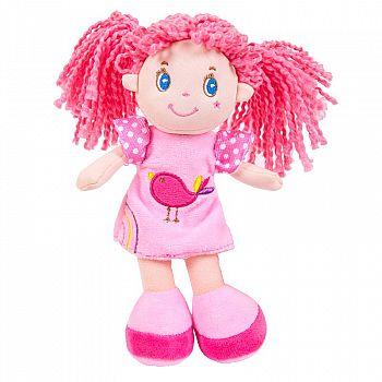 Кукла ABtoys Мягкое сердце, с розовыми волосами в розовом платье, мягконабивная, 20 см