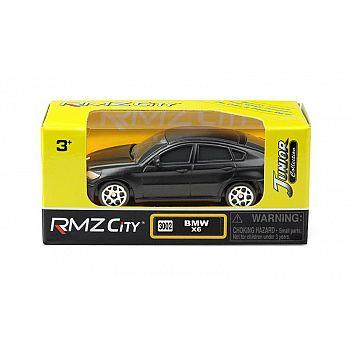 Машинка металлическая Uni-Fortune RMZ City 1:64 BMW X6, без механизмов, черный матовый цвет