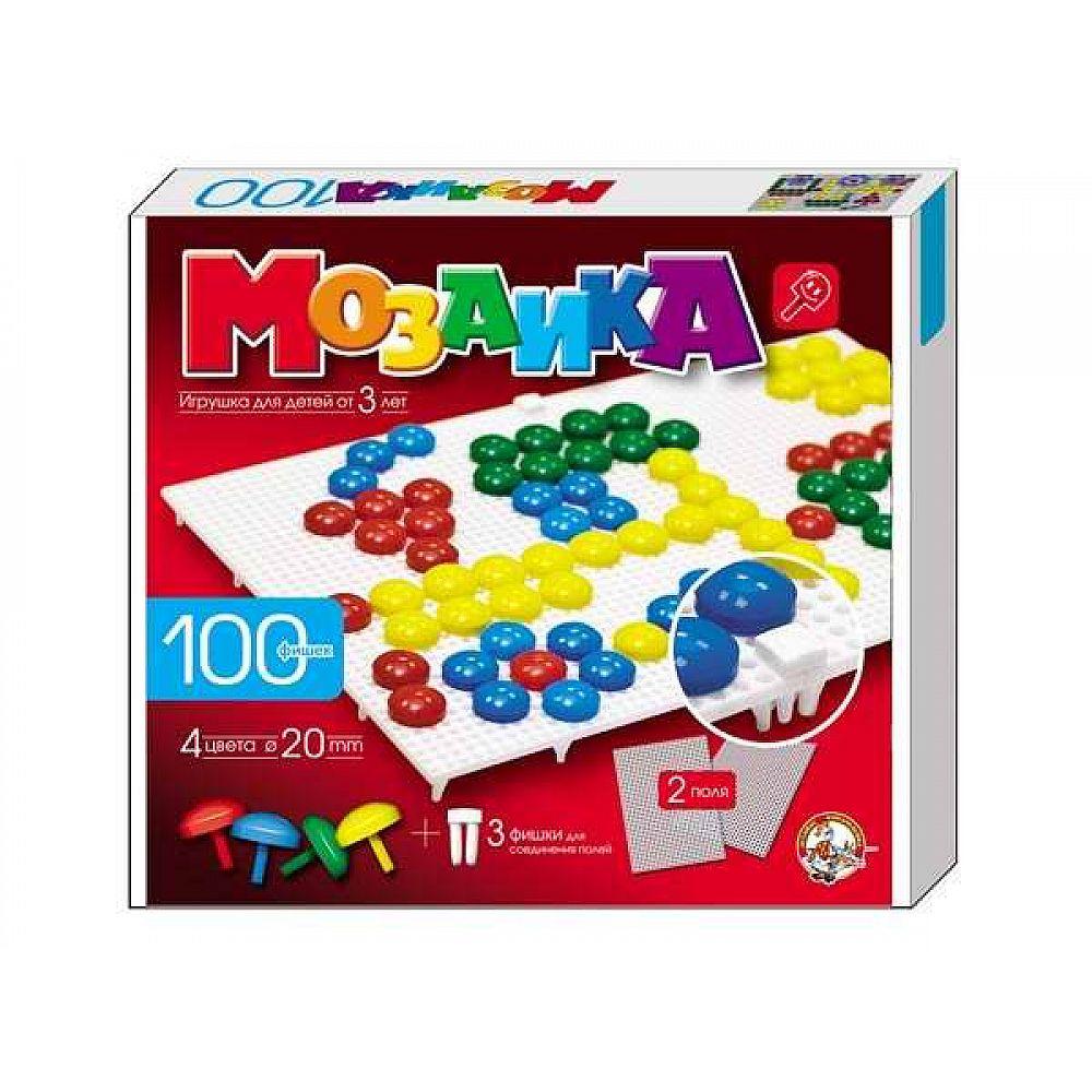 Мозаика d20 / 4 цвета / 100шт/ 2 поля