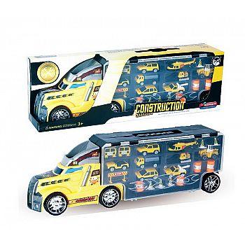 """Машинка """"Автовоз"""" в комплекте с металлическими машинками и дорожными знаками, без механизмов, 56х12х18 см"""