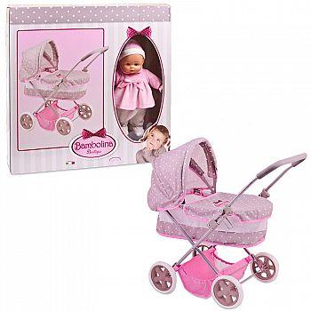 Коляска для куклы DIMIAN классическая, в комплекте с куклой 36 см