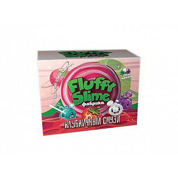 """Набор для эксперементов Fluffy Slime фабрика """"Клубничный смузи"""" 3 слайма 3 цвета"""