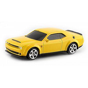 Машинка металлическая Uni-Fortune RMZ City 1:64 Dodge Challenger SRT Demon 2018 (цвет желтый)