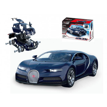 """Машинка-конструктор """"Собери сам. Гоночная машина"""", 58 деталей, цвет синий, звуковые и световые эффекты."""