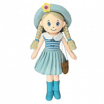 Кукла ABtoys Мягкое сердце, мягконабивная в шляпе и с сумочкой, 50 см