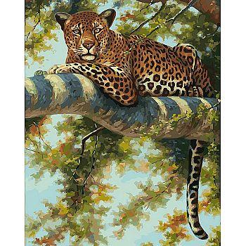 Набор для творчества Белоснежка Картина по номерам на холсте Леопард в тени ветвей 40х50см