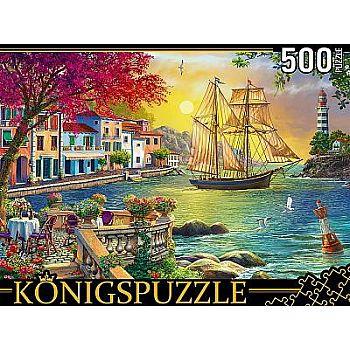 Пазлы Konigspuzzle Парусник у набережной 500 элементов