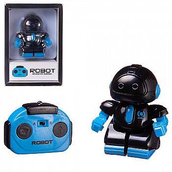 Робот JUNFA с пультом на ИК-управлении, со световыми эффектами, мини, черный 13,5х9,5х6 см