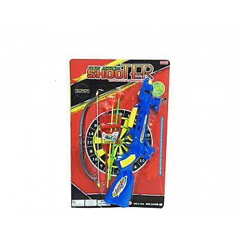 Игровой набор Junfa 2в1 Лук- арбалет с 3 стрелами-присосками и мишенью