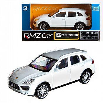 Машинка металлическая Uni-Fortune RMZ City 1:43 Porsche Cayenne Turbo , без механизмов, цвет белый, 12,5 x 5,6 x 5,9 см