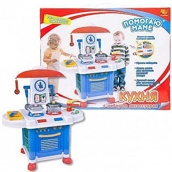 "Кухня ""Помогаю Маме"", в наборе с аксессуарами, на батарейках, 12 предметов, с эффектами"