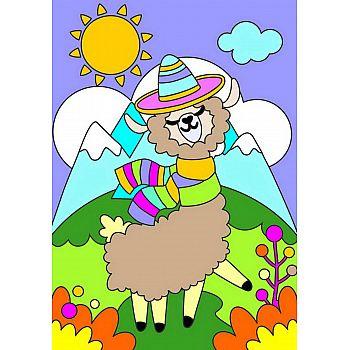 Набор для творчества LORI Картина по номерам для малышей Прелестная альпака