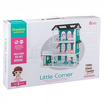 Игровой набор ABtoys Модульный домик (собери сам), 8 секций. Мини-куколки с питомцами в гостинной, в столовой, на кухне, в наборе с аксессуарами