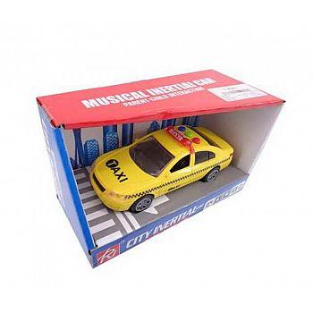"""Машинка """"Такси"""", пластмассовая , со звуковыми и световыми эффектами, 20х10х11,5 см"""