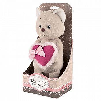 Мягкая игрушка Maxitoys Котик Романтичный с Розовым Сердечком, 20 см, в Коробке