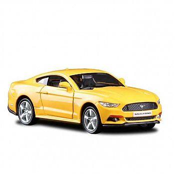 Машинка металлическая Uni-Fortune RMZ City 1:32 Ford Mustang 2015 инерционная, (желтый), 12,7х5,08х3,75 см