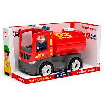 Пожарная автоцистерна в фигуркой водителя, пластмасса
