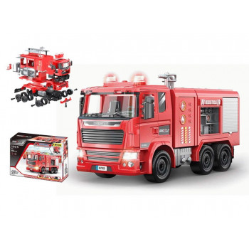 """Машинка-конструктор """"Собери сам. Пожарная машина"""", 99 деталей, звуковые и световые эффекты."""
