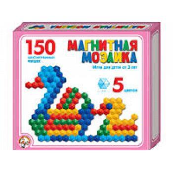 Мозаика магнитная шестигранная 150 фишек / 5 цветов