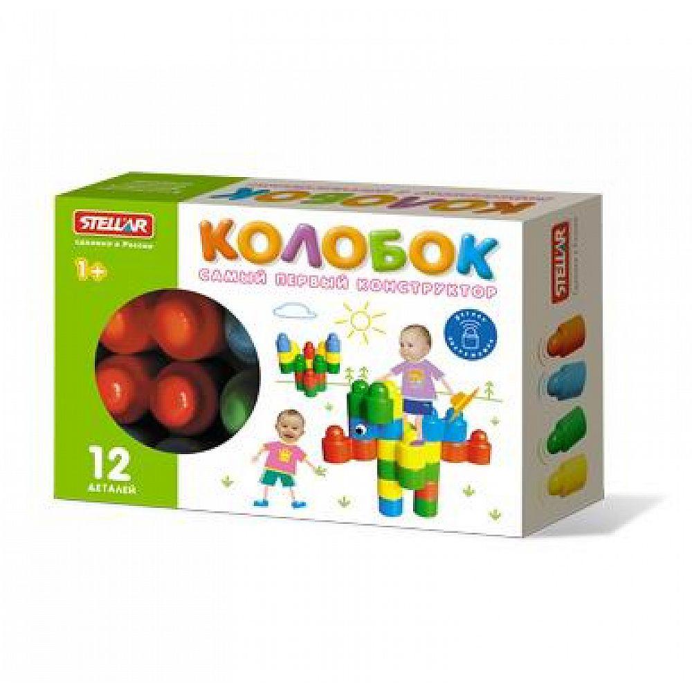 Конструктор Колобок (12 деталей), коробка