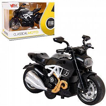 Мотоцикл ABtoys металлический инерционный 1:14 (2)