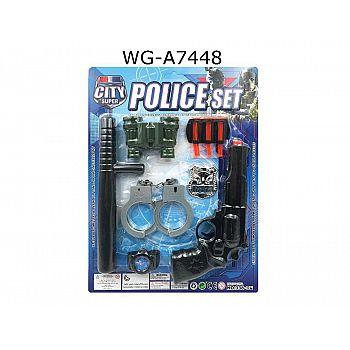 Игровой набор Junfa Полиция 10 предметов, на блистере