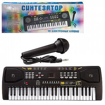 Синтезатор (пианино электронное), 49 клавиш, с адаптером