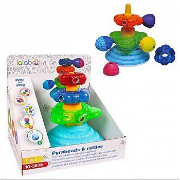 """Игрушка развивающая """"Lalaboom"""", пирамида с аксессуарами, 11 предметов"""