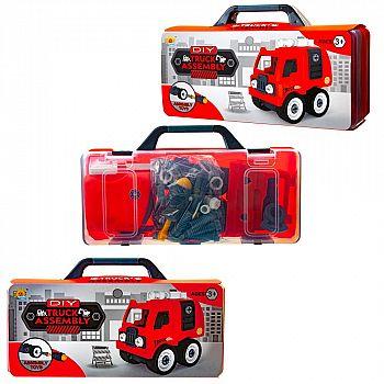 """Машинка-конструктор """"Сделай сам """"Пожарная машина"""", в чемоданчике"""