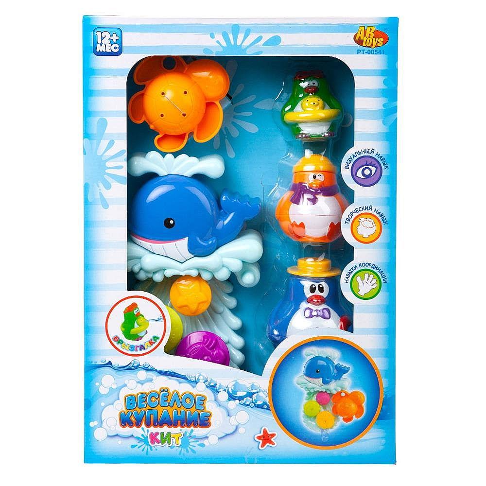 """Игрушки для ванной """"Веселое купание"""" в наборе с аксессуарами (5 предметов)"""