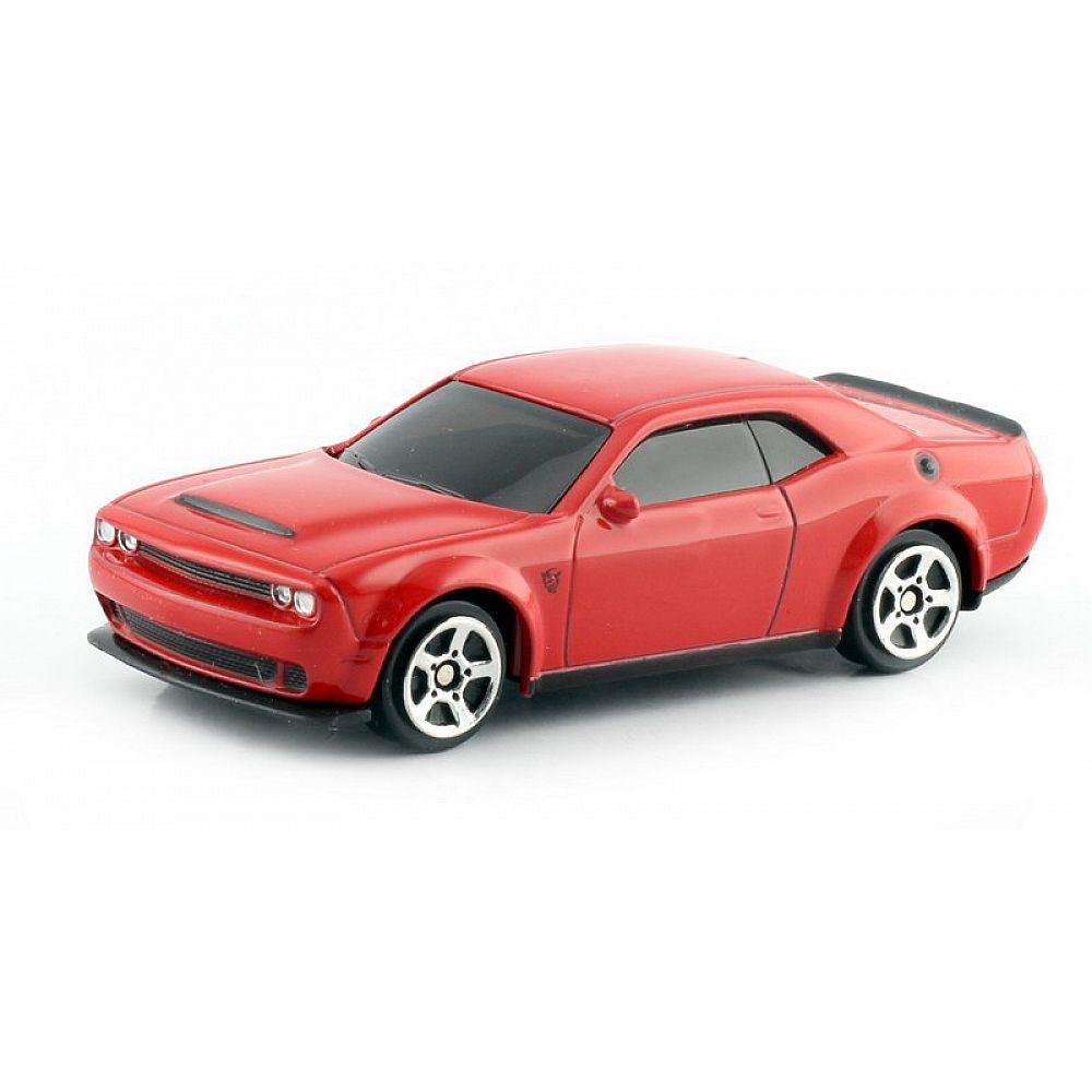 Машинка металлическая Uni-Fortune RMZ City 1:64 Dodge Challenger SRT Demon 2018 (цвет красный)