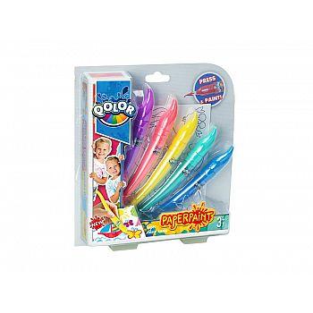 Краски акриловые, в наборе 5 цветов, блистер-упаковка
