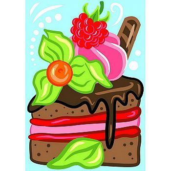 Набор для творчества LORI Картина по номерам для малышей Сладкий тортик