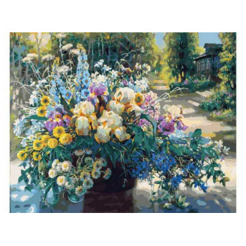 Набор для творчества Белоснежка картина по номерам на холсте Летнее великолепие 30 на 40 см