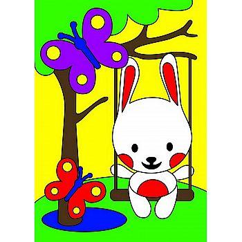 Набор для творчества LORI Картина по номерам для малышей Зайка на прогулке