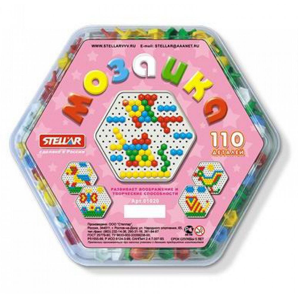 Мозаика (диаметр 13мм/110 деталей), шестигранная коробка
