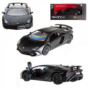Машинка металлическая Uni-Fortune RMZ City 1:36 Lamborghini Aventador LP 750-4 Superveloce (цвет черный матовый)