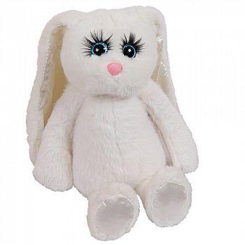 Реснички. Кролик белый 20 см, игрушка мягкая