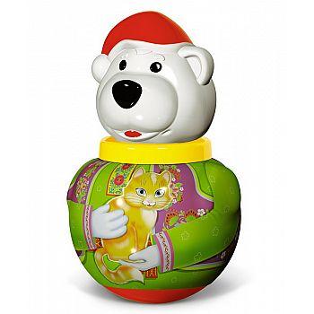 """Неваляшка малая Белый медведь """"Борис"""" в п/пакете"""