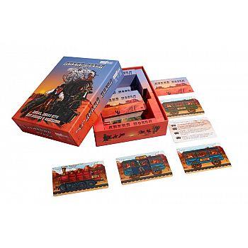 Игра настольная карточная Дикий поезд (обучающая, тактическая, семейная)