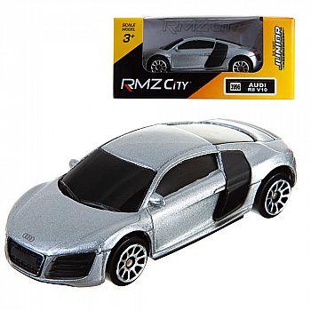 Машинка металлическая Uni-Fortune RMZ City 1:64 Audi R8 V10, без механизмов, (серебристый)