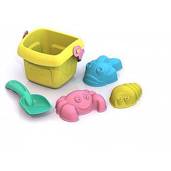 """Набор для песка Шкода """"Лето"""" №2 (ведро малое+совок малый+3 формочки) 27х22,5х8,5 см."""