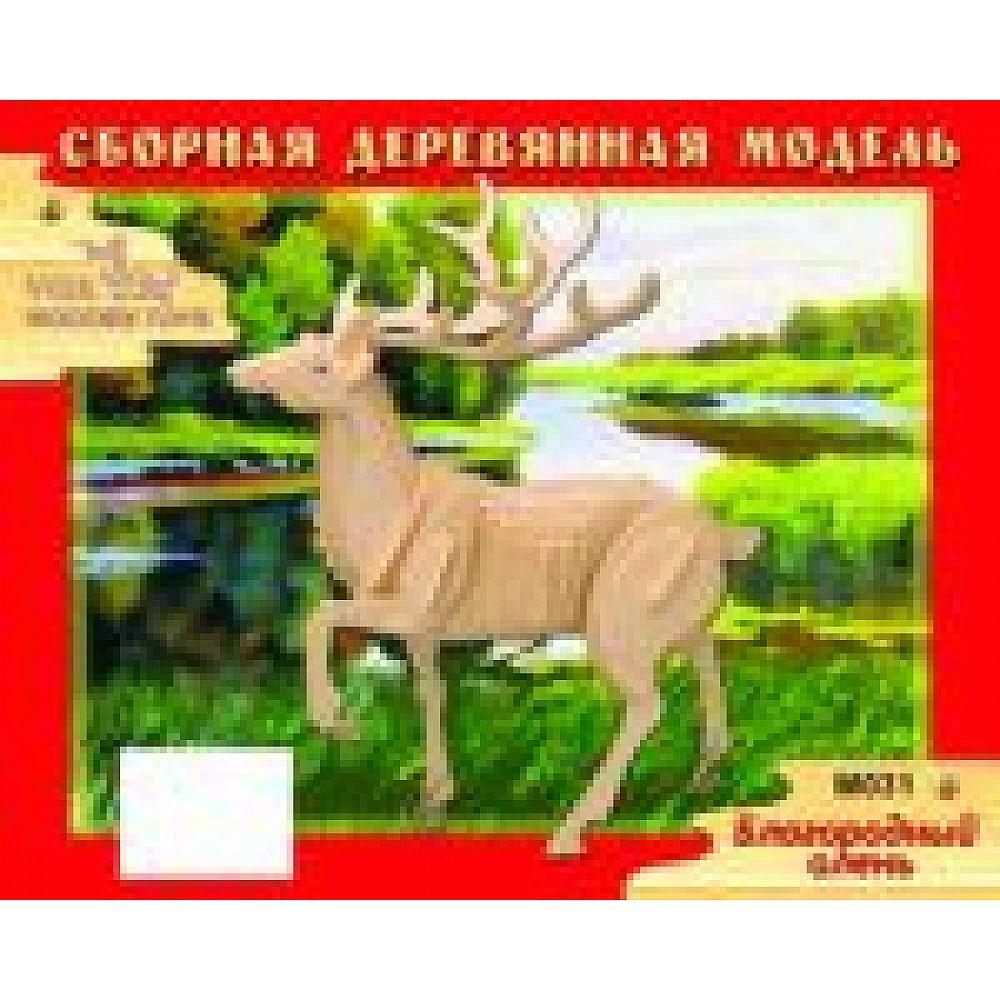 """Сборная деревянная модель Чудо-Дерево Животные Благородный олень"""""""
