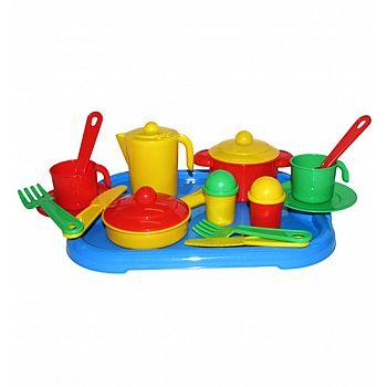 "Набор посуды на 2 персоны, ""Настенька"" с подносом 31х25,8х9,5 см."