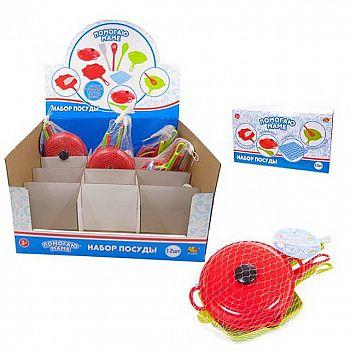 Игровой набор ABtoys Помогаю маме Посуда для кухни 8 предметов