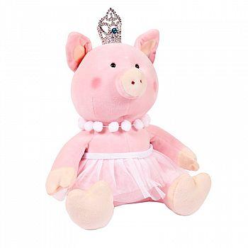 Свинка принцесса с короной, 22 см игрушка мягкая